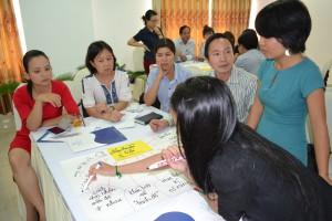 Các học viên tham gia tích cực trong buổi thảo luận nhóm