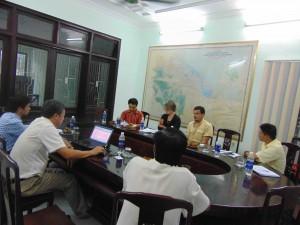 Đoàn đánh giá thăm và làm việc với Chi cục Kiểm lâm Thừa Thiên Huế