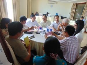 Các học viên thảo luận rất hăng say về những chủ đề được đưa ra tại Hội thảo - Tập huấn