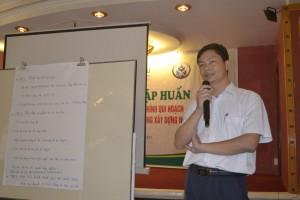 Phó Giám đốc Sở Kế hoạch và Đầu tư phát biểu tại Tập huấn - Hội thảo