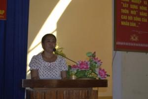 Bà Cao Thị Hường tự hào với những kết quả  mà Nghĩa Mỹ đã làm được