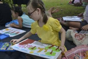Bức tranh hồn nhiên nhưng cũng có thông điệp rõ ràng của bé Bảo Nguyên, học sinh lớp 2