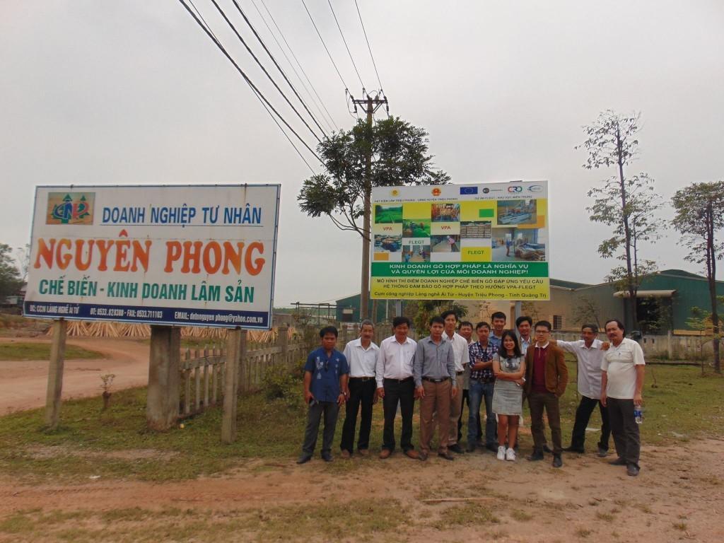 Tham quan mô hình doanh nghiệp chế biến gỗ  hợp pháp trong tiến trình  VPA - FLEGT ở Ái Tử, Triệu Phong, Quảng Trị