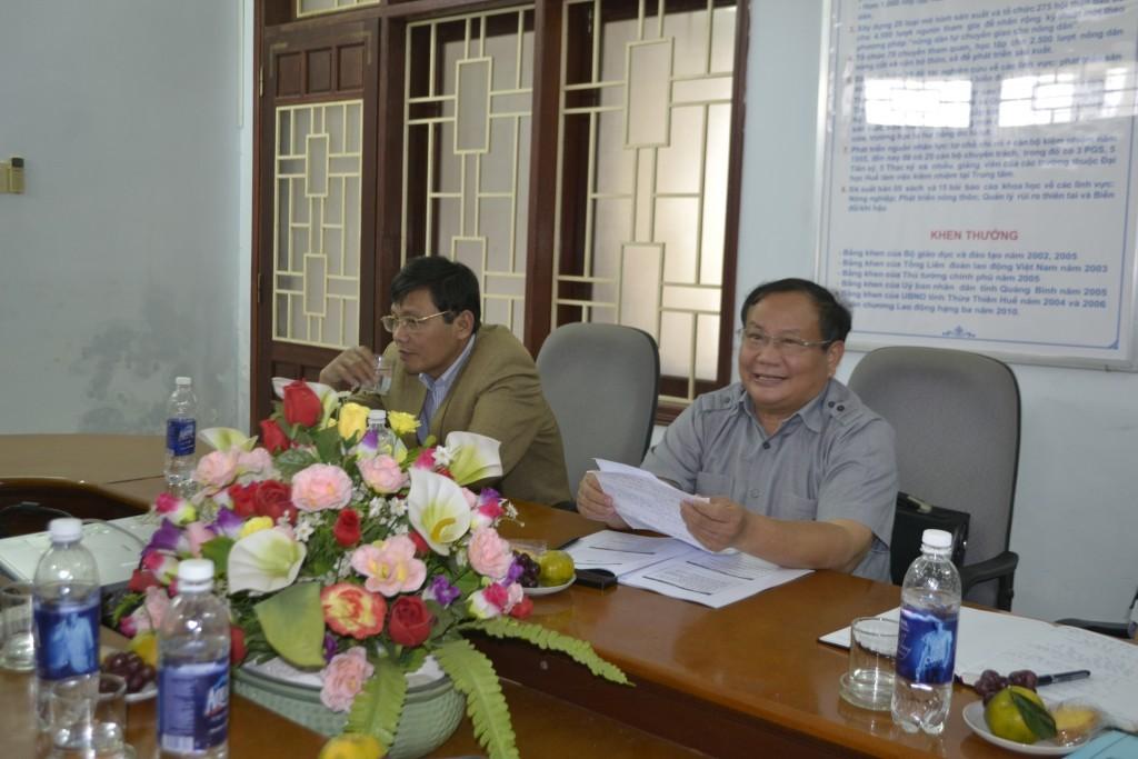 Ông Đinh Khắc Đính, PCT UBND tỉnh tại cuộc họp với ban chỉ đạo dự án ở CRD
